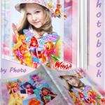 Детская фотокнига для девочек с героинями м с Winx
