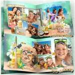 Семейная летняя фотокнига - Наш отдых на море