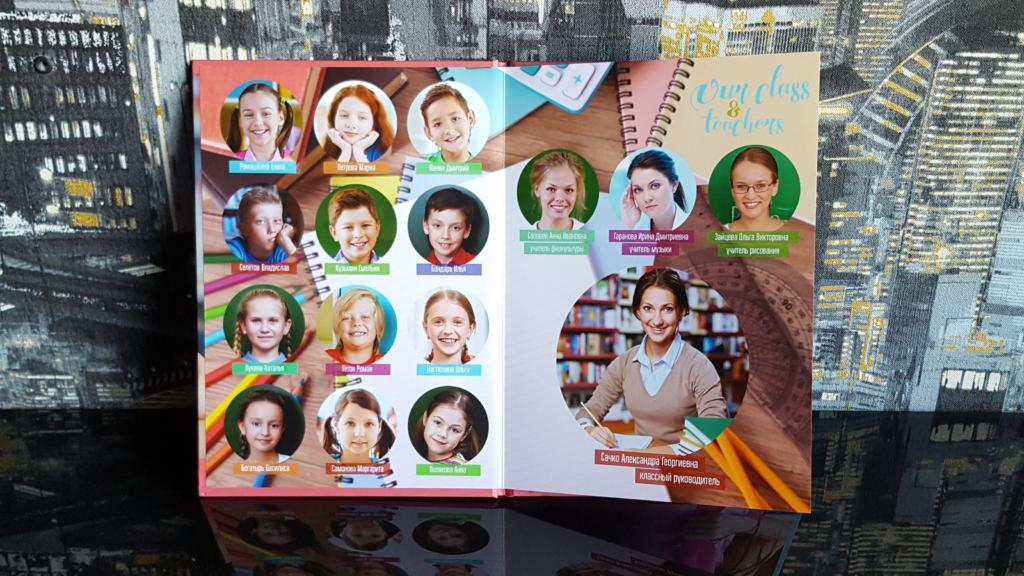 Выпускной фотоальбом Папка планшет с дополнительным разворотом для выпускников 11 Класса в Челябинске